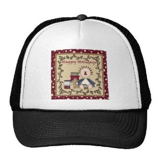 Happy Holidays Rag Doll Mesh Hat