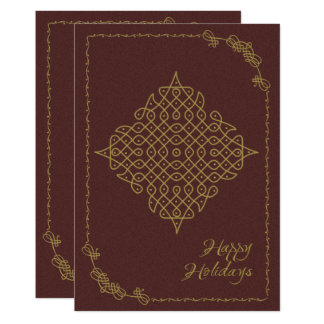 Happy Holidays Rangoli Design Card