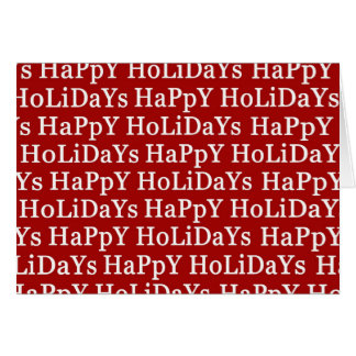 Happy Holidays Red Christmas Greeting Card 1