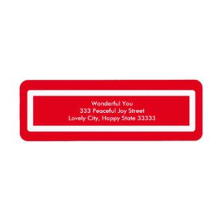 Happy Holidays Red Design Return Address Label