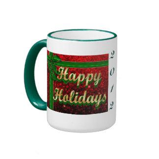 Happy Holidays Red Glitter Gift Mug