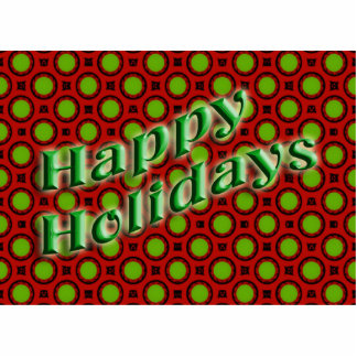 happy holidays red green cut out
