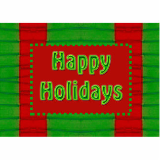 happy holidays red green photo cut out