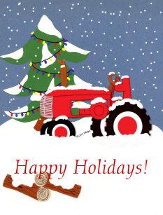 Afbeeldingsresultaat voor happy holidays tractor