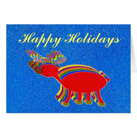 Happy Holidays-Reindeer Card