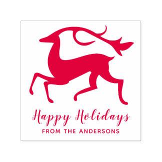 Happy Holidays Reindeer Christmas Deer Self-inking Stamp