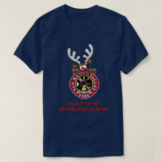 Happy Holidays Reindeer San Ramon Valley Fire T-Shirt