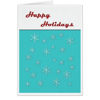 happy holidays retro greeting card