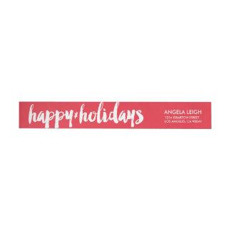 Happy Holidays Return Address Labels Wraparound Return Address Label