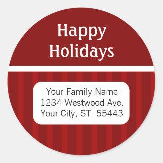 Happy Holidays return address sticker / label