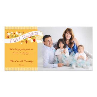 Happy Holidays Ribbon Photo Card