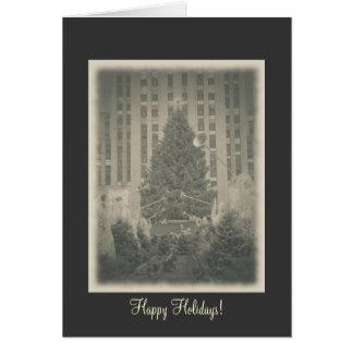Happy Holidays - Rockefeller Center Vintage Style Greeting Card
