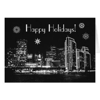 Happy Holidays! San Francisco at night Card