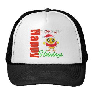 Happy Holidays Santa Chick v2 Hats