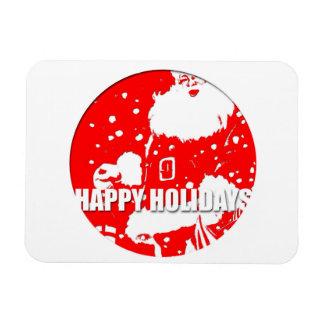 Happy Holidays - Santa Claus - 3 x4 Photo Magnet