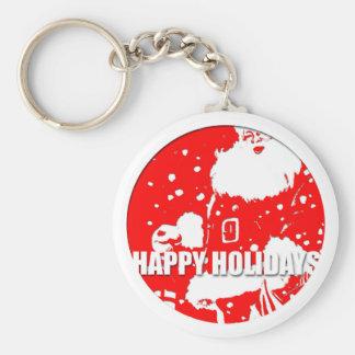 Happy Holidays - Santa Claus - Keychain