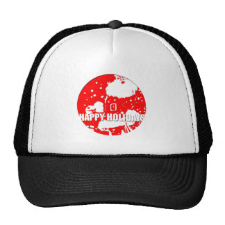 Happy Holidays - Santa Claus - Mesh Hat