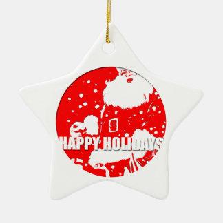 Happy Holidays - Santa Claus - Ornament 1
