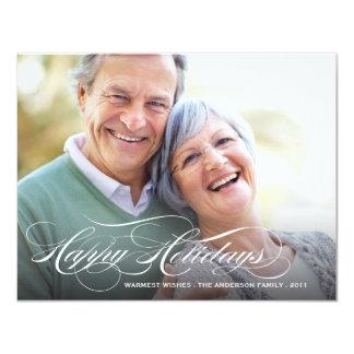 HAPPY HOLIDAYS SCRIPT | HOLIDAY PHOTO CARD 11 CM X 14 CM INVITATION CARD
