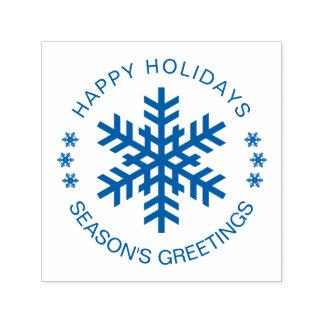 Happy Holidays Seasons Greetings customizable Self-inking Stamp