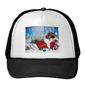 Happy Holidays Shih Tzu Hat
