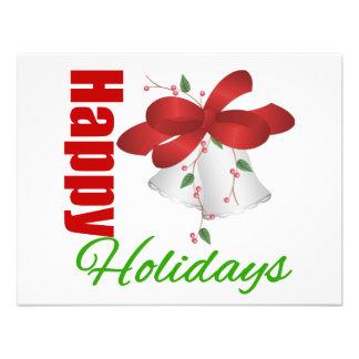 Happy Holidays Silver Bells Custom Invites