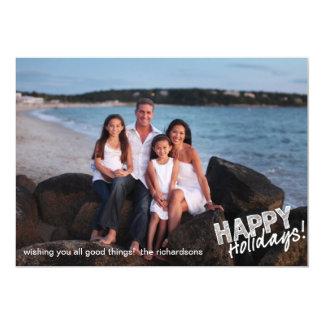 Happy Holidays Sketch 13 Cm X 18 Cm Invitation Card