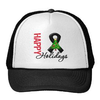 Happy Holidays Skin Cancer Awareness Mesh Hat