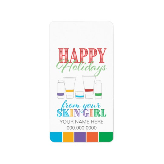 Happy Holidays / Skin Girl - Sticker Label