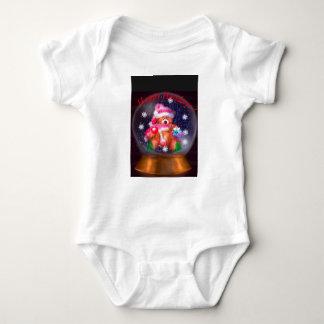 Happy Holidays Snow Globe Baby Bodysuit