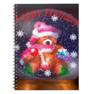 Happy Holidays Snow Globe Notebooks
