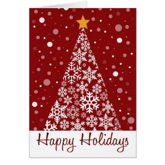 Happy Holidays Snow Tree Greeting Cards
