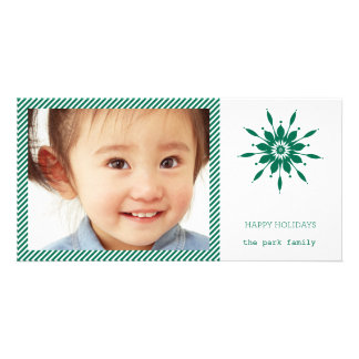 Happy Holidays Snowflake Card Picture Card