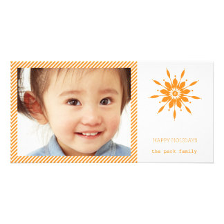Happy Holidays Snowflake Card Photo Cards