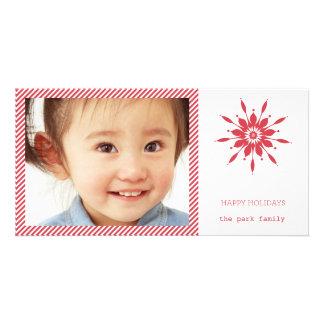 Happy Holidays Snowflake Card Photo Greeting Card