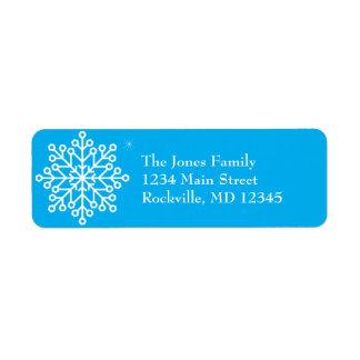 Happy Holidays Snowflake Label Return Address Label