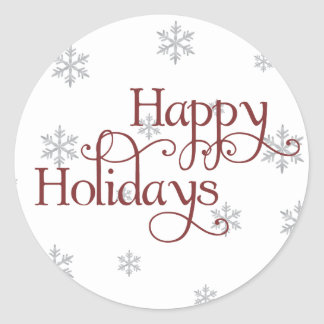 Happy Holidays Snowflake Sticker
