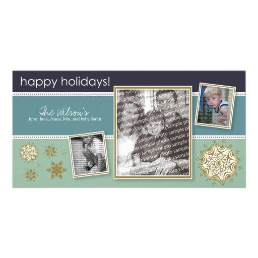 Happy Holidays Snowflake Sweet 3-Photo :: 05 Photo Greeting Card