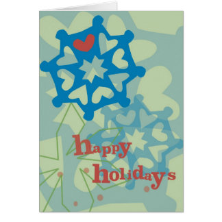 "Happy Holidays ""Snowflake Whimsy"" Greeting Card"