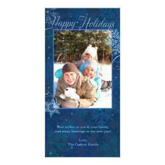 Happy Holidays Snowflakes Picture Card