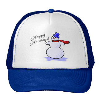 Happy Holidays (Snowman) Trucker Hat