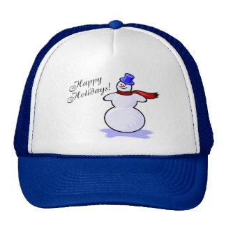 Happy Holidays (Snowman) Cap