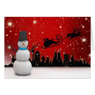 Happy Holidays Snowman Card