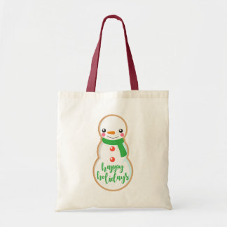 Happy Holidays | Snowman Cookie Tote Bag
