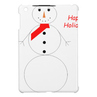 Happy Holidays Snowman iPad Mini Cover