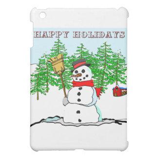 Happy Holidays - Snowman iPad Mini Covers