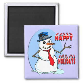 Happy Holidays Snowman Magnet