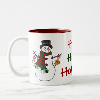 Happy Holidays Snowman - Mug