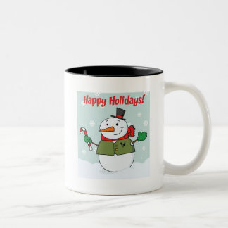 Happy Holidays Snowman Coffee Mug