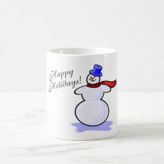 Happy Holidays Snowman Mug